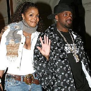 Janet Jackson with longtime beau Jermaine Dupri