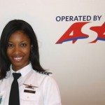 Atlantic Southeast Airlines Captain Rachelle Jones completed her upgrade traning in April 2008 and has now become the airlines first African- American female Captain.