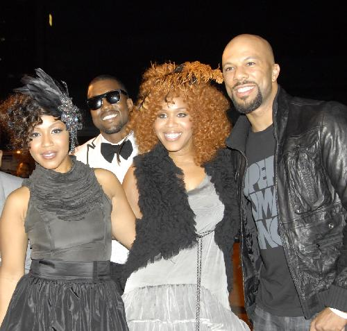 Erica Campbell, Kanye West, Tina Campbell, and Common