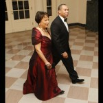 Massachusetts Governor Deval Patrick and his wife Diane Patrick