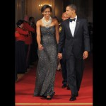 The White House First Dinner gala, First Lady Michelle Obama and President Barack Obama