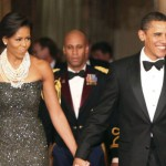 Michelle and Barack Obama make entrance into First Dinner Party at the White House