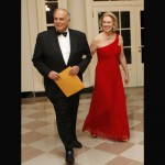 Pennsylvania Governor Ed Rendell and his wife Marjorie Rendell.  Unfortunately, you will see this dress twice.