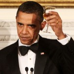 President Obama toasts his guests