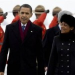 President Barack Obama and Canada's Governor-General Michaelle Jean