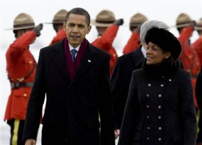 Pres. Obama and Canada's Governor General Michaelle Jean