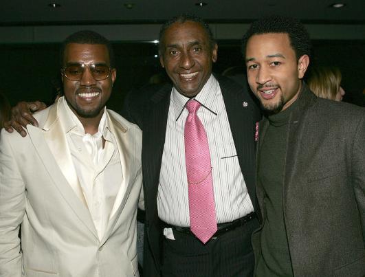 Kanye West, Ernie barnes and John Legend