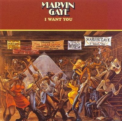 "Barnes' ""Sugar Shack"" cover for Marvin Gaye's ""I Want You"" album"