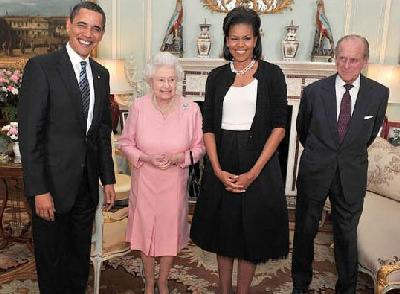 The President and First Lady Meet The Queen and Prince