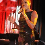 """Estelle performing """"Don't Leave Me This Way"""" (courtesy of  Lester Cohen/wireimage)"""