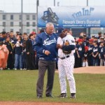 Colin Powell prepares to throw out ceremonial first pitch of the game