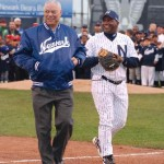 Former U.S. Secretary of State, General Colin Powell and Newark Bears manager, former National League All-Star Tim Raines