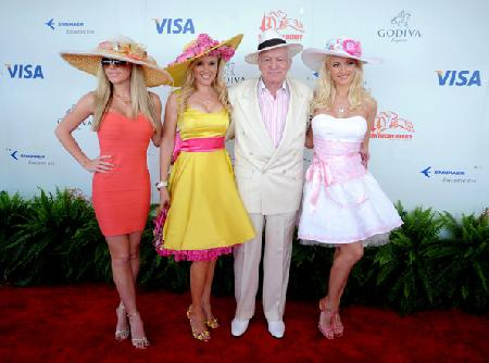 Heff and the girls at the Derby