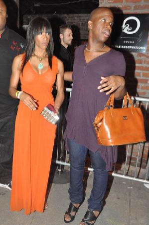 Sheree Whitfield and her stylist Lawrence