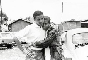 Michelle with her man in the early days.