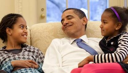 President Obama spending 'Dad' time with Malia & Sasha