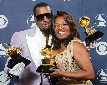 Dr. Donda West and Kanye West