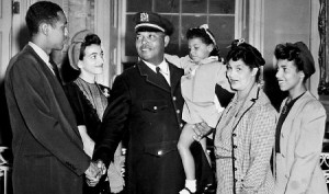 Lt. Samuel J. Battle and family