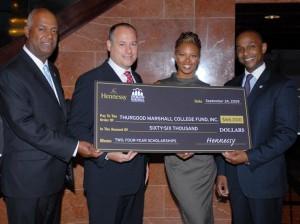 Noel Hankin, Andy Glaser, Eva Marcille and Dwayne Ashley, President, Thurgood Marshall College Fund