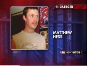 Matthew Hess, 40, charged with child abuse.
