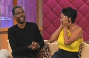 Chris Rock with Nia Long on the Wendy Williams show.