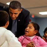 obama in school with mexicans