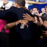obama woman HUGS him