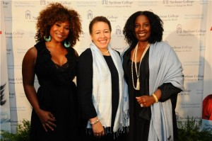 Pictured here, left to right: Tanika Ray, correspondent and co-host 'Extra'; Dr. Beverly Daniel Tatum, president Spelman College; LaTanya Richardson Jackson, actress, producer, director