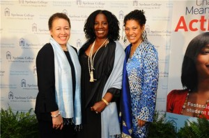 Pictured here, left to right:Dr. Beverly Daniel Tatum, president Spelman College; LaTanya Richardson Jackson, actress, producer, director; Tina McElroy Ansa,  novelist, publisher, filmmaker, teacher, journalist