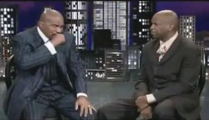 Steve Harvey with Donnie McClurkin on TBN