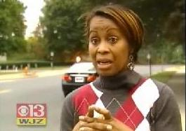 Donna Dyson, mother of 7-year old beaten by parent at Winfield Elementary in Randallstown, Md.