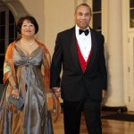 Governor of Massachussetts Deval Patrick and wife Diane