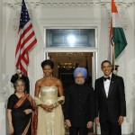 The Obamas host the Prime Minister Manmohan Singh and his wife Mrs. Gursharan Kaur for the first official state dinner on Tuesday night.
