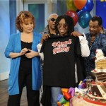 k and g with whoopi and tshirt