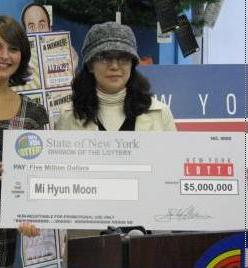 New York Lotto winner, Mi Hyun Moon