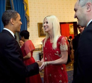 Dinner crashers, Michaele and Tareq Salahi, with President Obama.