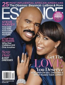 Steve and Marjorie Harvey on the cover of Essence's December Issues