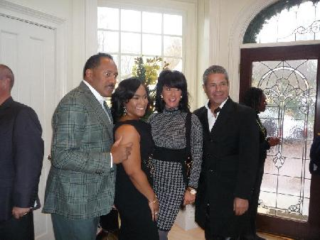 Frank, Tonya and Big Papa and his WIFE!  Yes...Big Papa that Kim from RHOA was claiming to be engaged to...