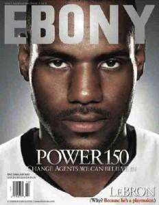 Ebony covers-lebron james
