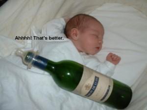 baby drinking