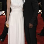 Taye Diggs and wife Idina Menzel arrive at the 15th Annual Screen Actors Guild Awards on Sunday, Jan. 25, 2009, in Los Angeles.