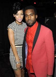 Rihanna and Kanye West