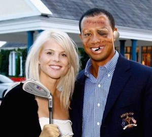 tiger woods and his wife joke