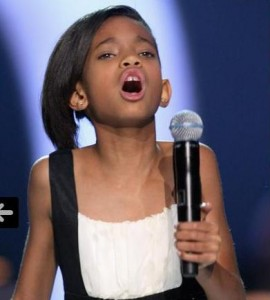 Willow Smith singing at the Nobel Peace Prize Ceremony in Oslo, Norway.