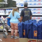 Is their really pants on this woman? Your husband is WRONG for letting you come out like that!