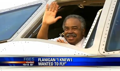 "Captain Calvin ""Cal"" Flanigan retires after 45 years of service with Delta Airlines, Friday, March 8, 2013."
