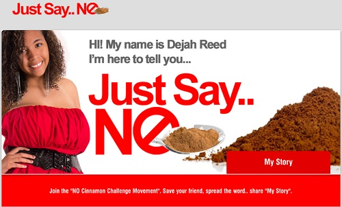 Dejah Reed, 16, suffered a collapsed lung from the Cinnamon Challenge and now is trying to change people's minds.