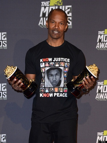 Jamie Foxx accepts MTV Generation Award, Sunday, April 14, 2013.