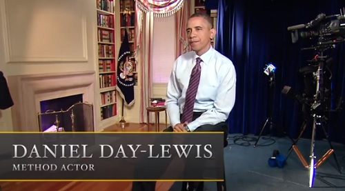 "Daniel Day Lewis was Steven Spielberg's choice for playing the role of the President in his new film, ""Obama""."