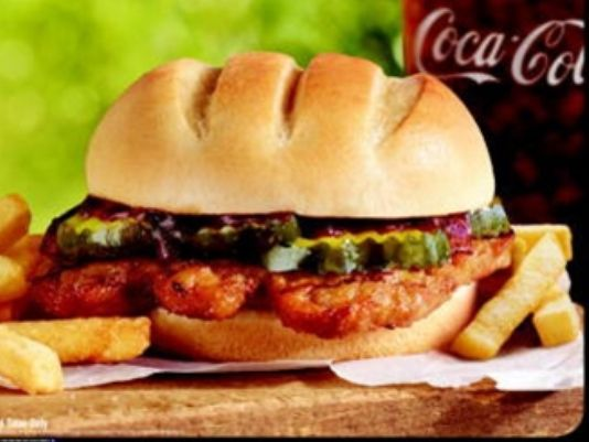 Burger King offers the BK Rib sandwich this summer.